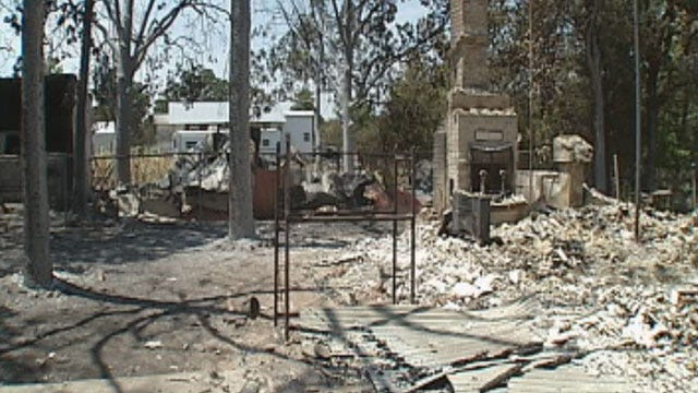 Cushing, Glencoe Residents Clean Up After Wildfires