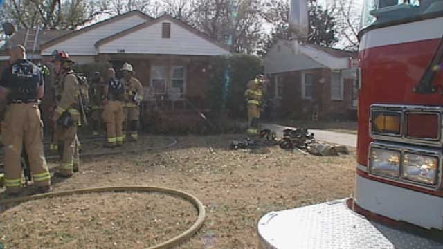Firefighters Extinguish House Fire In Northeast OKC