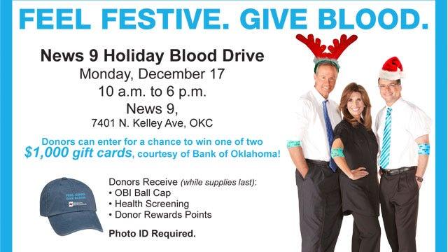 News 9 Holiday Blood Drive