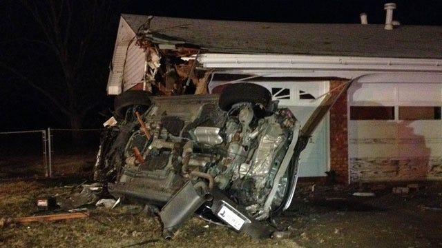 Car Crashes Into House In Southwest OKC