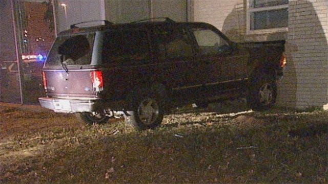 Suspect Crashes Into Buildings During OKC Chase