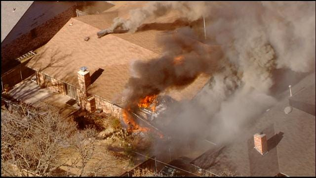 Crews Battle Fire At Bethany Home