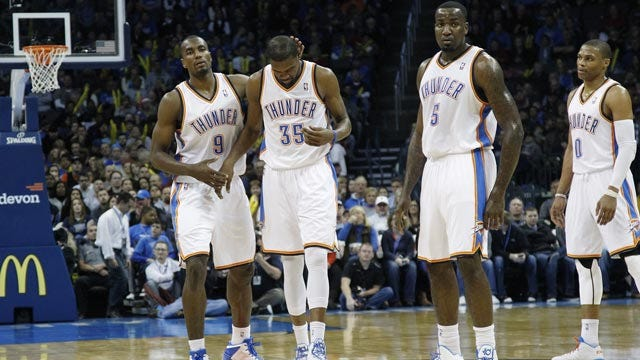 Durant Leads OKC To 10th-Consecutive Victory