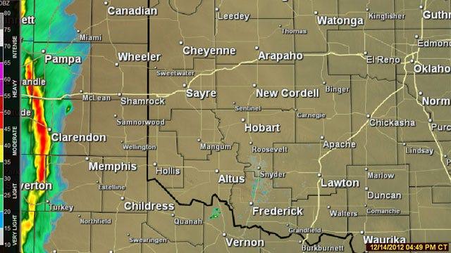 Storms Headed For Oklahoma