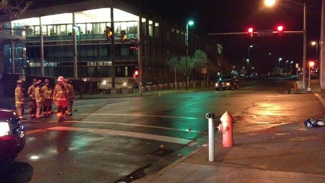 Crews Work To Repair Gas Leak In Downtown OKC