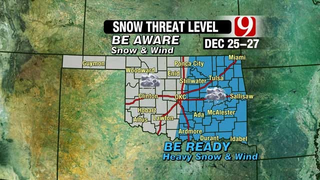 News 9 Weather Team Tracks Potential Blizzard In Oklahoma