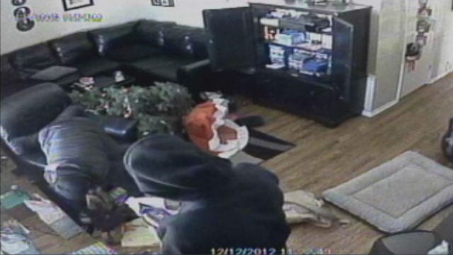 Brazen Burglars Caught On Camera Stealing Christmas Presents