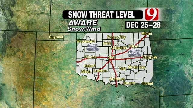 Christmas Day Snow Storm Still Headed For Oklahoma