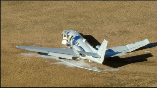 Small Plane Crashes At Will Rogers World Airport