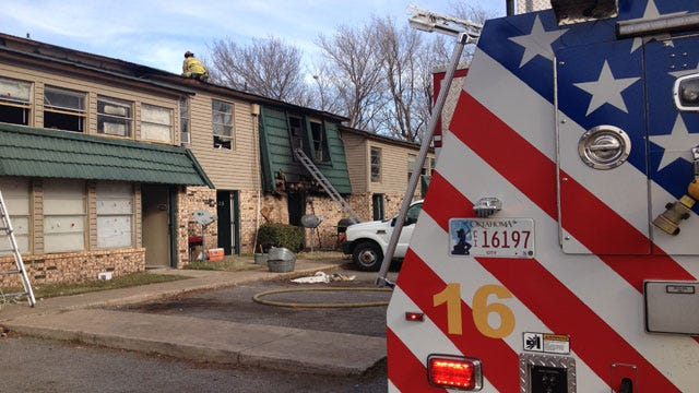 Fire Department Battles Flames At SW OKC Apartments