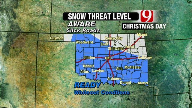 Whiteout Conditions Possible In Christmas Day Snow Storm