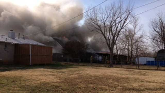 Christmas Eve Fire Heavily Damages MWC Home