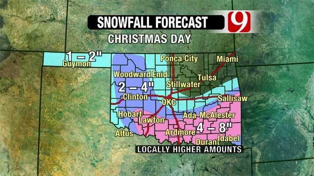 Winter Storm Dumps Snow Across Oklahoma, Blizzard Warning Issued