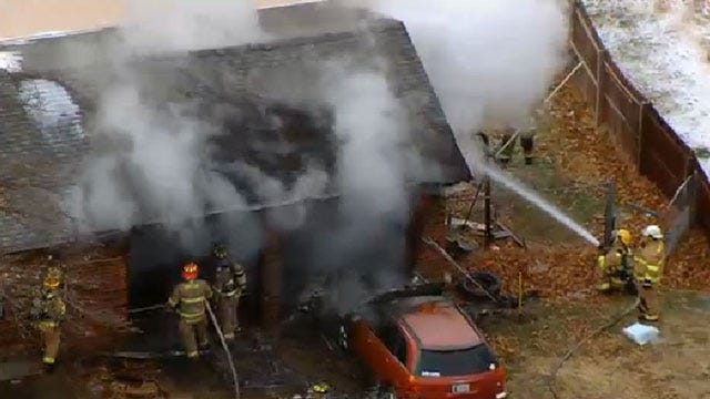 Crews Douse House Fire in Choctaw