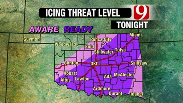 Icy Conditions Possible For Early Friday Morning