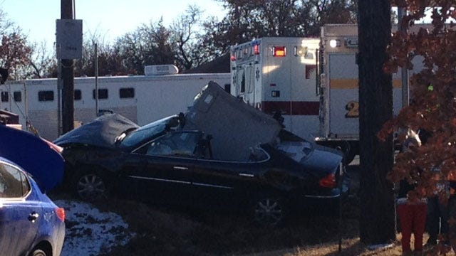 Emergency Crews Respond To Rollover Accident In NE OKC