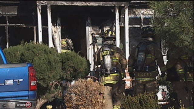 Firefighters Respond To Large House Fire In SE OKC