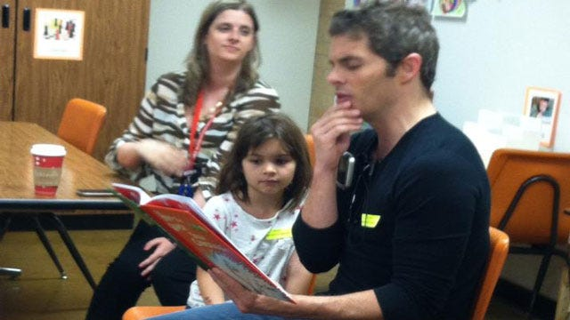 Actor James Marsden Reads To Putnam City Elementary Students