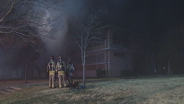 Fire Crews Extinguish Blaze At NW OKC Vacant School Building