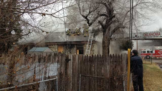 Weather Causes Problems For Firefighters Battling Blaze In OKC