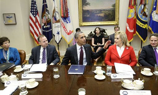 Oklahoma Governor Attends Fiscal Cliff Meeting At White House