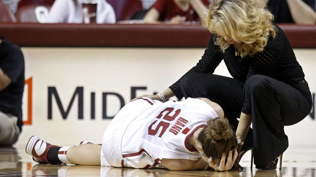 Sooners Win Game, Lose Hand To Injury