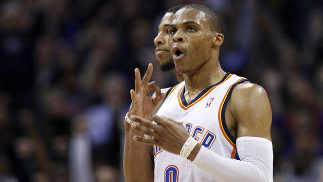 Westbrook, Durant Power Thunder Past Lakers