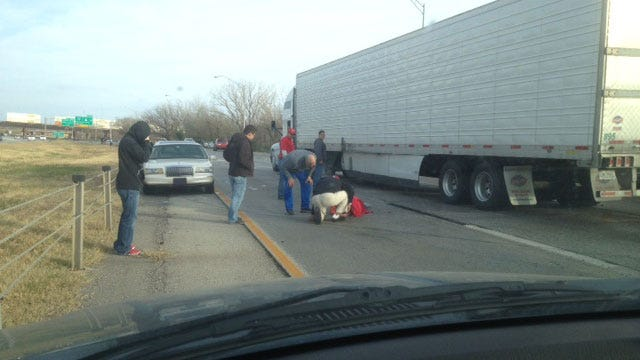 Three Injured After 6-Car Accident On I-44, Near Broadway Ext.