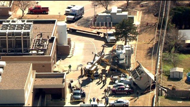 Crane Falls At Deaconess Hospital, No One Hurt