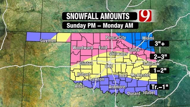 Oklahoma Counties Under Winter Weather Advisory