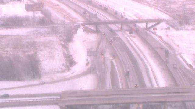 Accidents Pile Up On Slick Roads Across Metro