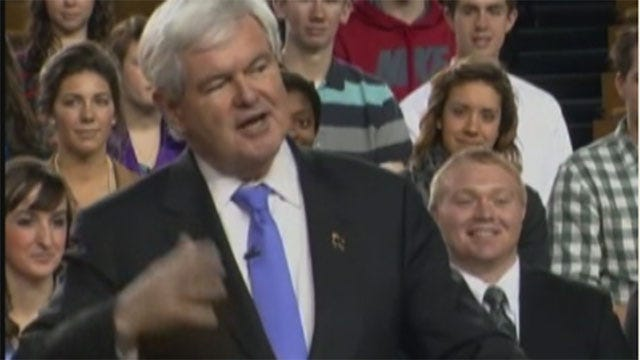 Presidential Candidate Newt Gingrich Makes Stops In OKC, Tulsa