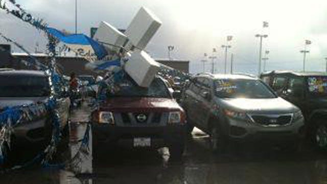 Severe Thunderstorm Causes Damage In Oklahoma