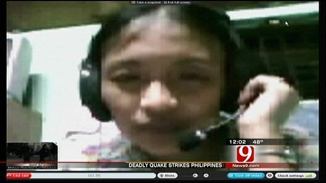Moore Man's Fiancee In Philippines Talks About Deadly Earthquake