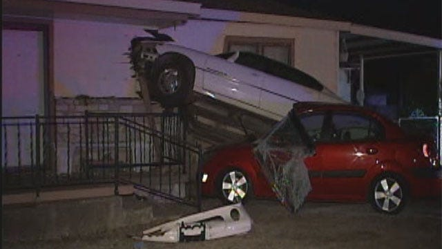 Car Crashes Into House In Bethany During Police Pursuit