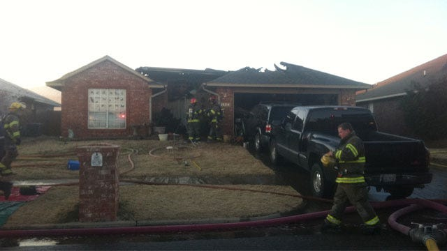 Fire Destroys Home In Moore