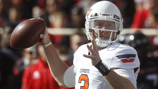Oklahoma State's Weeden To Play In Senior Bowl