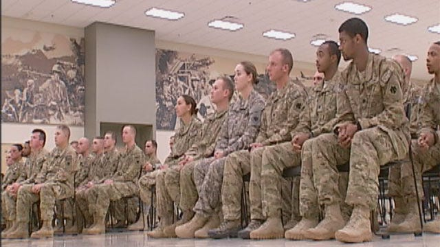 Several Oklahoma National Guard Members Return Home