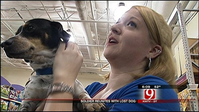 Oklahoma Soldier Reunites With Lost Dog