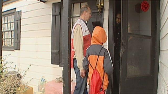 Red Cross Volunteers Go Door-To-Door In OKC To Give Fire Safety Tips