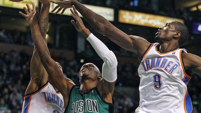 Thunder Prevail Over Celtics In Scrappy Road Game