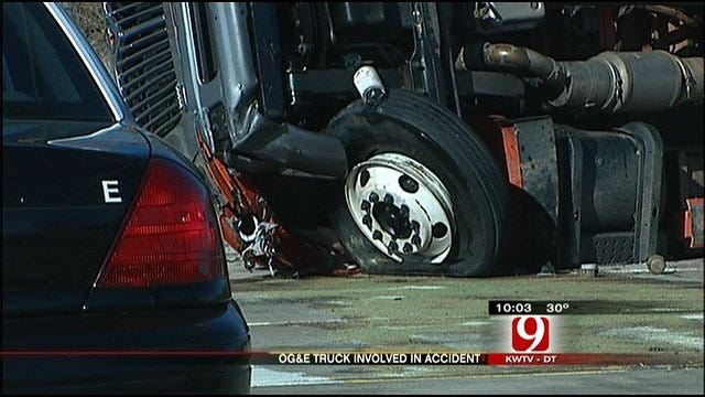 OKC Driver Critically Injured In Collision With OG&E Truck