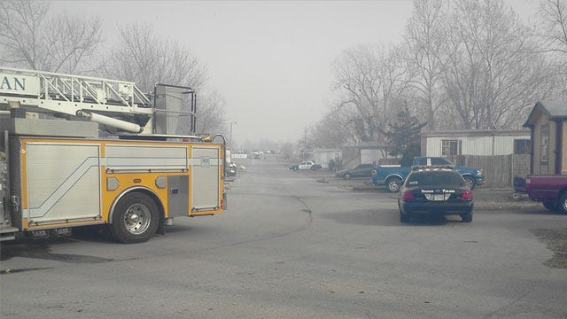 Wildfire Threatens Norman Mobile Home Park