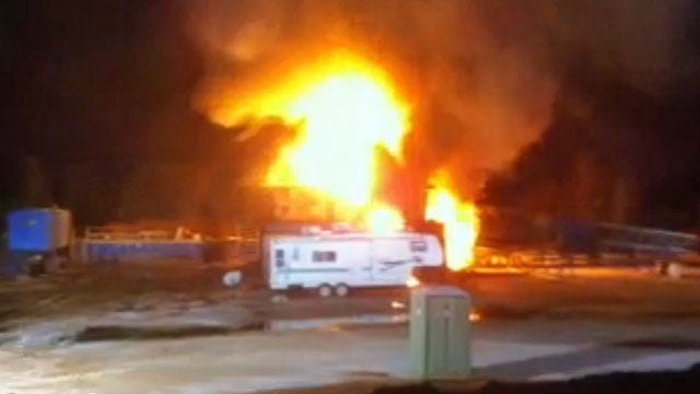 Crews Cap Well At Site Of Logan County Oil Rig Explosion