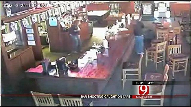 Surveillance Camera Captures Video Of Shooting At OKC Bar