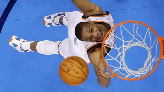 Three OKC Players Top 20 Points In Blowout Over Pistons
