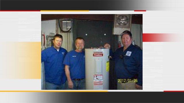 Cushing Animal Shelter Receives Hot Water Tank From Plumbing Company