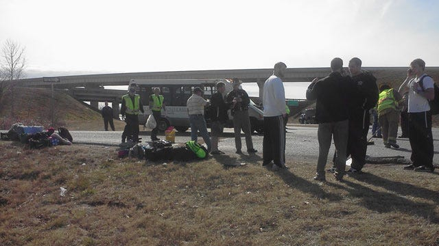 St. Gregory Basketball Players Injured In School Bus Crash In Shawnee
