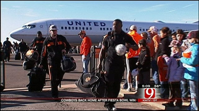 OSU Cowboys Return Home To Warm Welcome