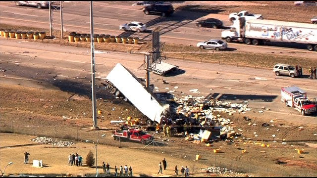 Authorities Identify Semi Driver Killed In I-35 Collision In OKC